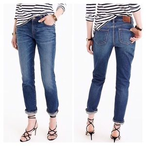 J. Crew slim broken in boyfriend fit jeans, 28T